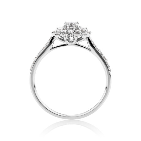 Engagement Ring with 0.60 Carat TW of Diamonds in 14ct White Gold