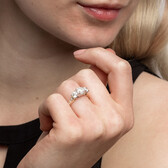 Engagement Ring with 2 Carat TW of Diamonds in 14ct Yellow & White Gold