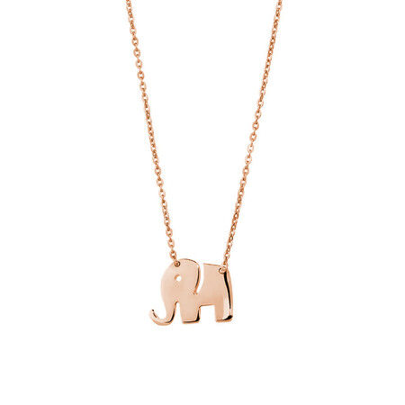 Mini Elephant Necklace in 10ct Rose Gold