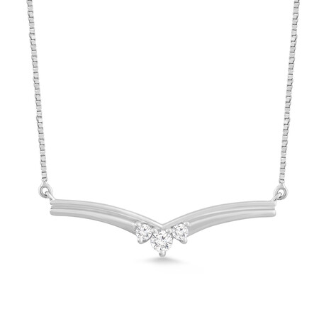 Necklace with 0.10 Carat TW of Diamonds in 10ct White Gold
