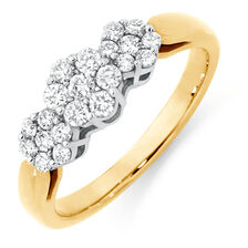 f79527f6109 Engagement Ring with 1 2 Carat TW of Diamonds in 18ct Yellow   White ...