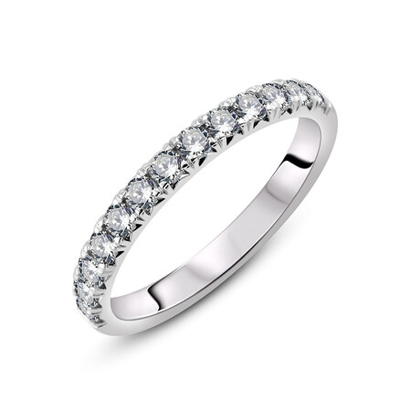 Ring with 1/2 Carat TW of Diamonds in 18ct White Gold