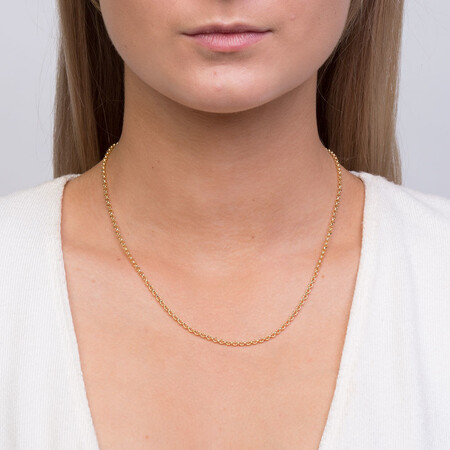"""45cm (18"""") Hollow Belcher Chain in 10ct Yellow Gold"""