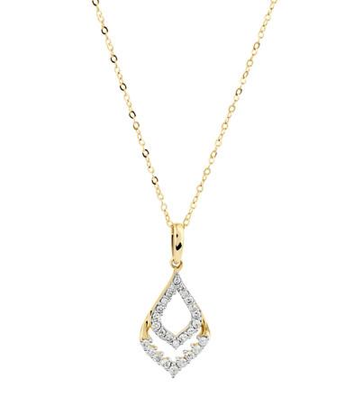 Teardrop Pendant with 0.15 Carat TW of Diamonds in 10ct Yellow Gold