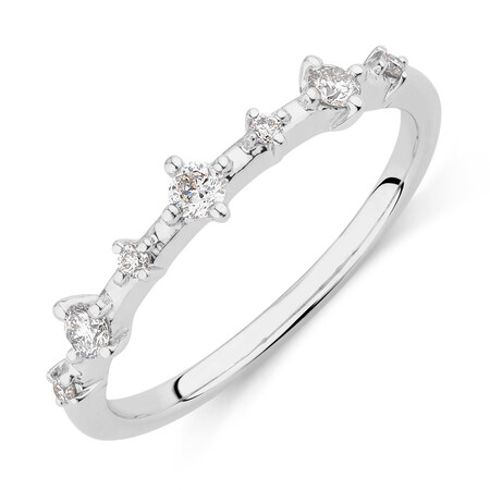 Stacker Ring with 0.20 Carat TW of Diamonds in 10ct White Gold