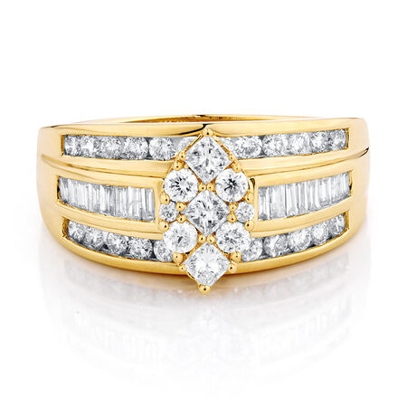 Online Exclusive - Engagement Ring with 1 Carat TW of Diamonds in 14ct Yellow Gold