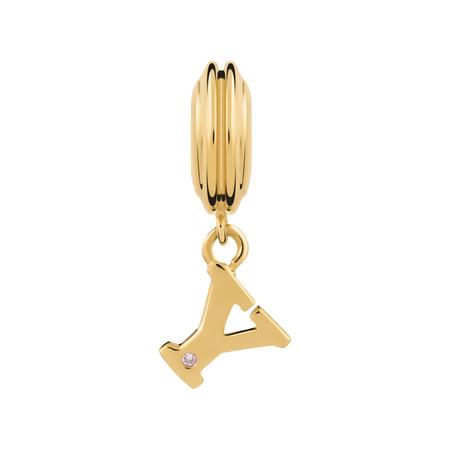 Online Exclusive - Diamond Set & 10ct Yellow Gold 'Y' Charm