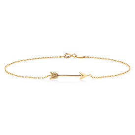 "21cm (8"") Arrow Bracelet in 10ct Yellow Gold"