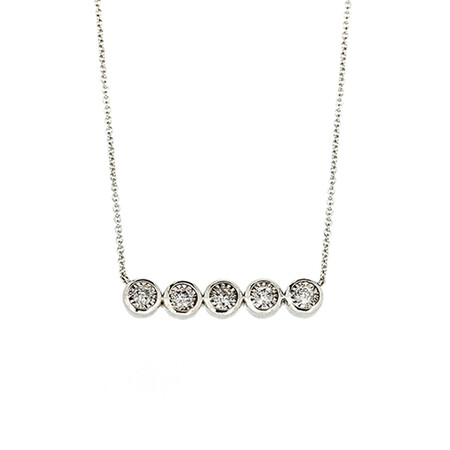 Pendant with Chain with 0.25 Carat TW of Diamonds in Sterling Silver