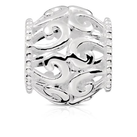 Sterling Silver Filigree Charm