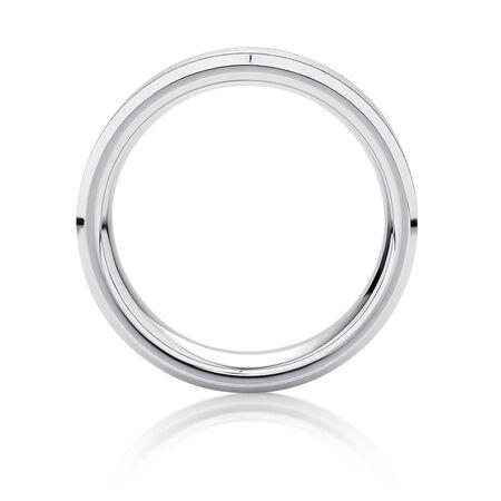 Online Exclusive - 8mm Men's Ring in White Tungsten