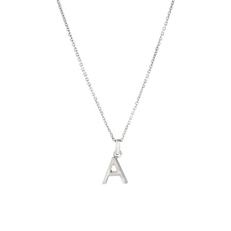 """""""A"""" Initial Pendant in Sterling Silver"""