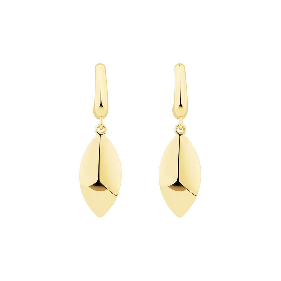 Drop Stud Earrings in 10ct Yellow Gold