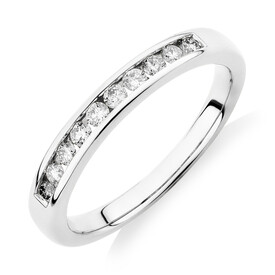 Evermore Wedding Band with 0.25 Carat TW of Diamonds in 18ct White Gold