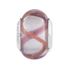 Pink & Amber Murano Glass Charm