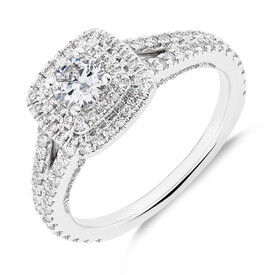 Sir Michael Hill Designer GrandApreggio Ring With 0.95 Carat TW Of Diamonds In 10ct White And Rose Gold