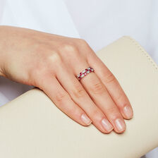 Online Exclusive - Ring with Rubies & Diamonds in 10ct White Gold