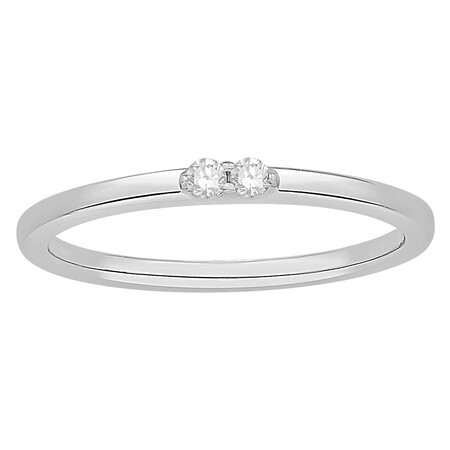 Stacker Ring in 10ct White Gold
