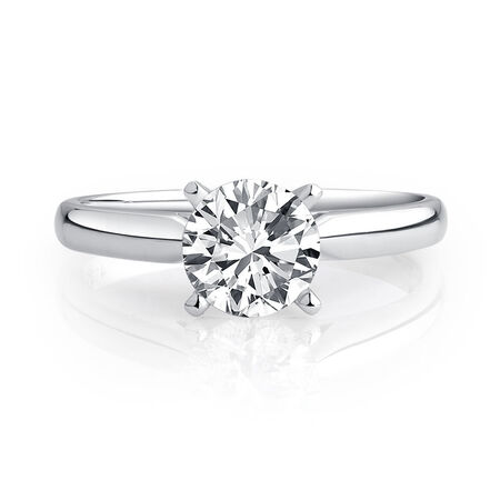 Evermore Solitaire Engagement Ring with a 1 Carat Diamond in 14ct White Gold