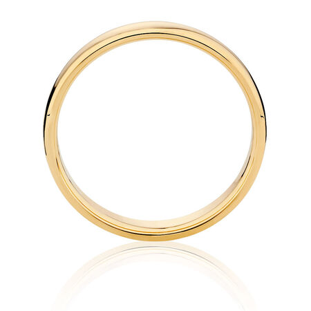 Men's Wedding Band in 10ct Yellow Gold