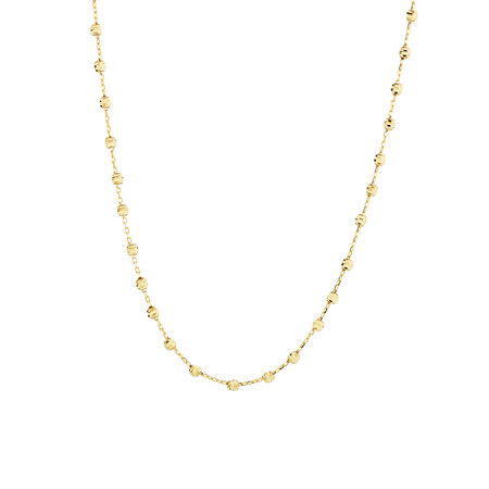 "45cm (18"") Beaded Chain in 10ct yellow Gold"