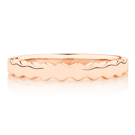 Honeycomb Stacker Ring in 10ct Rose Gold