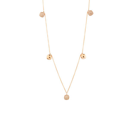 Online Exclusive - Pendant with Diamonds in 10ct Rose Gold