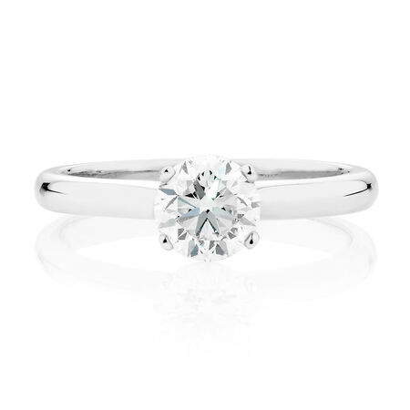 Solitaire Engagement Ring with a 1.45 Carat Diamond in 14ct White Gold