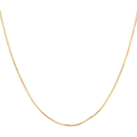 "40cm (16"") Snake Chain in 10ct Yellow Gold"