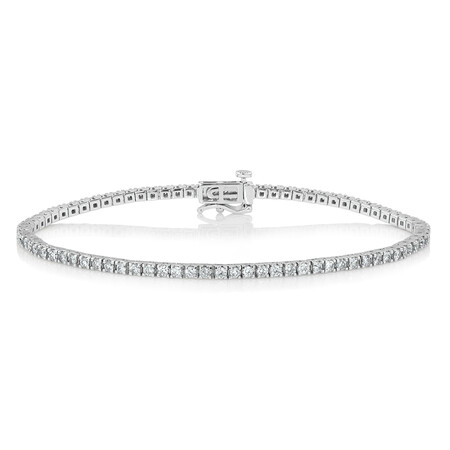 Tennis Bracelet with 2 Carat TW of Diamonds in 10ct White Gold
