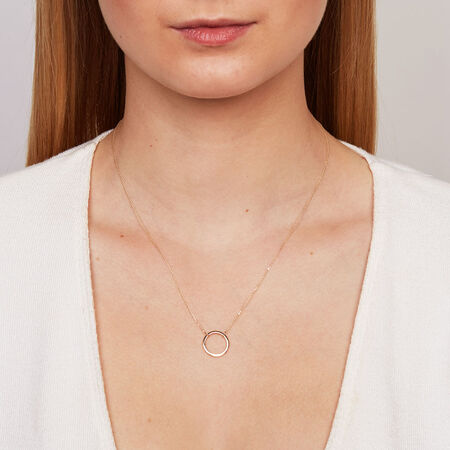 Circle Necklace in 10ct Yellow Gold