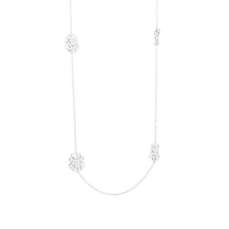 Fancy Loop Necklace in Sterling Silver