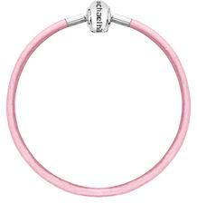 "Pink Triple Wrap Leather 57cm (22"") Charm Bracelet"