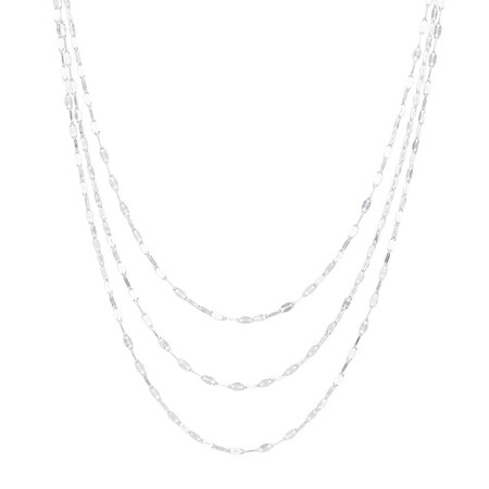 Adjustable Layer Chain Necklace in Sterling Silver
