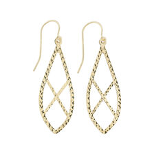 Online Exclusive - Patterned Drop Earrings in 10ct Yellow Gold