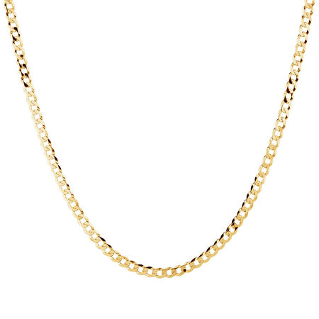 """45cm (18"""") Solid Curb Chain in 10ct Yellow Gold"""