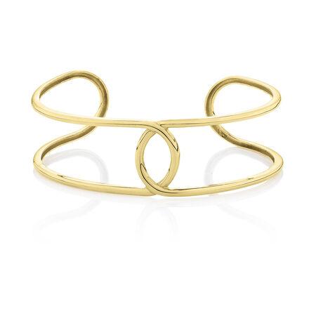 Geometric Bangle in 10ct Yellow Gold