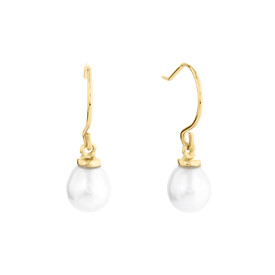 Pearl Earring in 10ct Yellow Gold