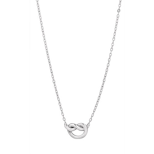 Knot Necklace in Sterling Silver