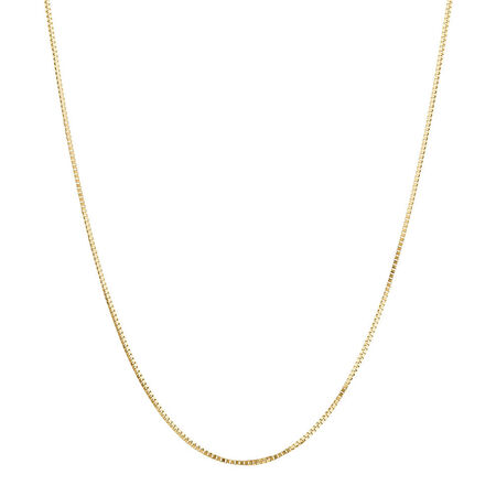 "45cm (18"") Box Chain in 18ct Yellow Gold"