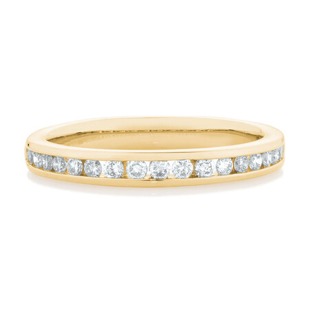 Wedding Band with 0.34 Carat TW of Diamonds in 14ct Yellow Gold