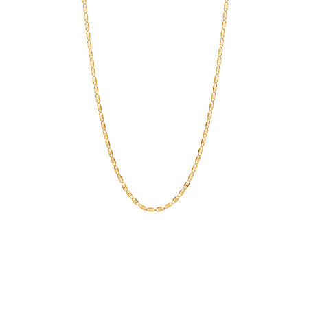 "45cm (18"") Solid Fancy Chain in 10ct Yellow, White & Rose Gold"