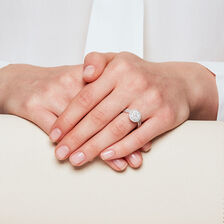 Bridal Set with 1.15 Carat TW of Diamonds in 14ct White Gold