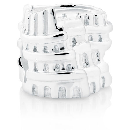 Sterling Silver Colosseum Italy Charm