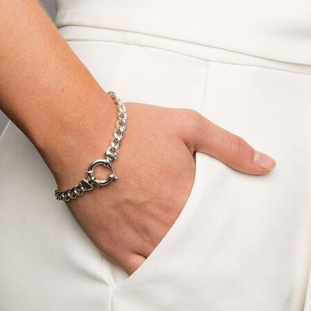 "19cm (7.5"") Curb Bracelet in Sterling Silver"