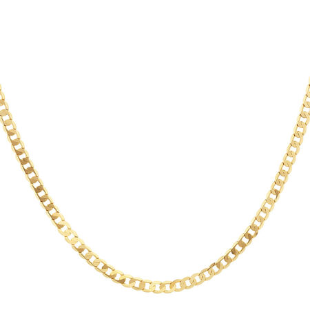 """50cm (20"""") Solid Curb Chain in 10ct Yellow Gold"""