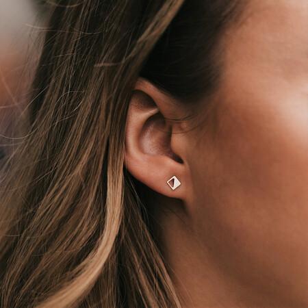 Geometric Stud Earrings in 10ct Yellow Gold