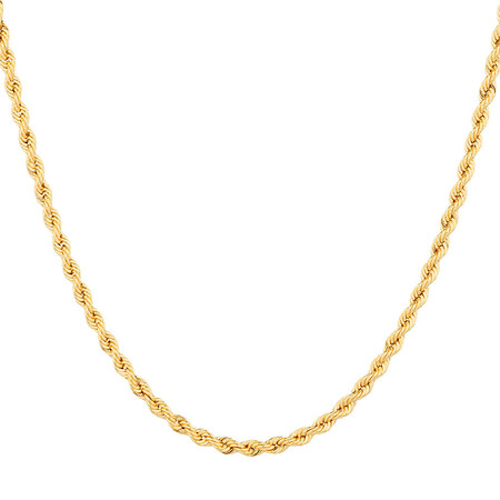 """45cm (18"""") Hollow Rope Chain in 10ct Yellow Gold"""