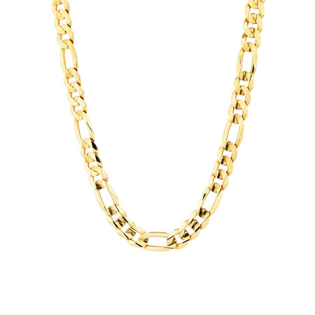 "60cm (24"") Figaro Chain in 10ct Yellow Gold"