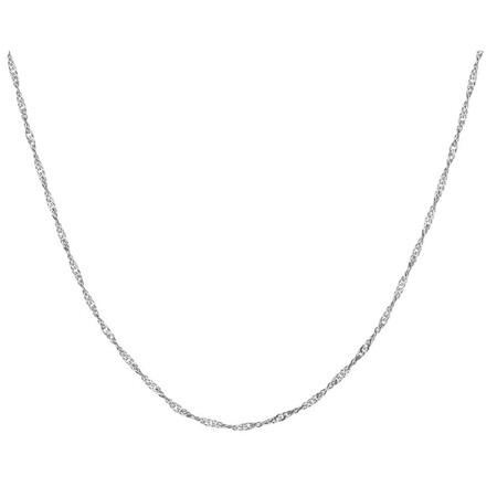 55cm Singapore Chain in 14ct White Gold
